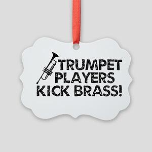 Kick Brass Ornament