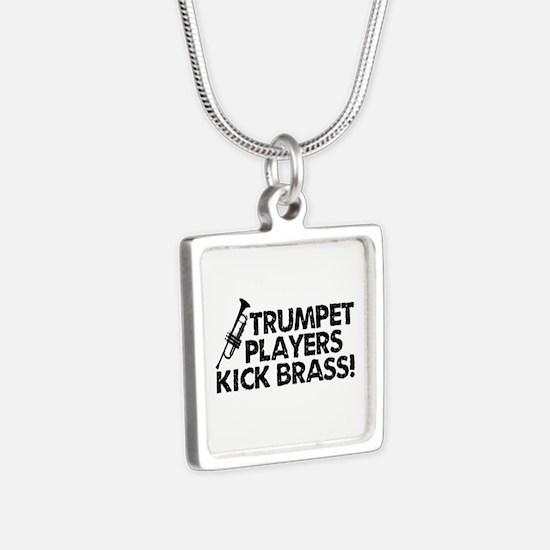 Kick Brass Silver Square Necklace