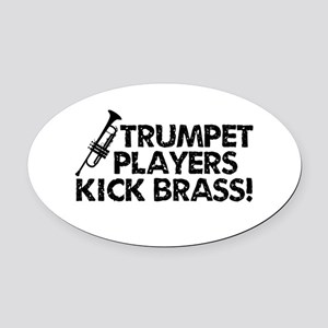 Kick Brass Oval Car Magnet