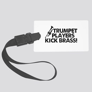 Kick Brass Luggage Tag