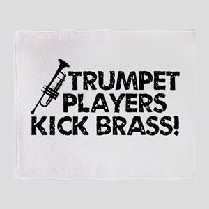 Kick Brass Throw Blanket