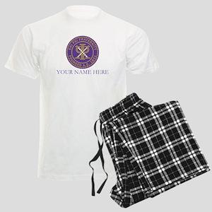 Chi Psi Shield Personalized Men's Light Pajamas
