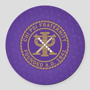 Chi Psi Shield Round Car Magnet
