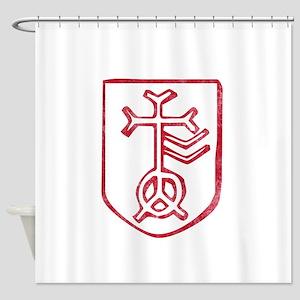 Pretty red christian cross 4 L f Shower Curtain