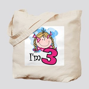 I'm 3 Blond Girl Tote Bag