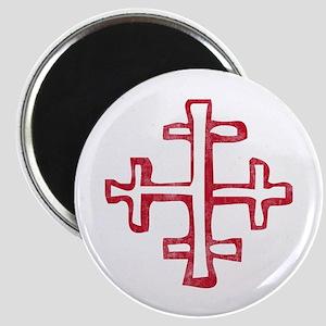 Pretty red christian cross 4 L s Magnet