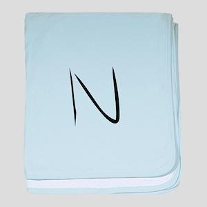 Elementary Monogram N baby blanket
