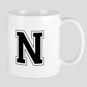 Collegiate Monogram N Mug