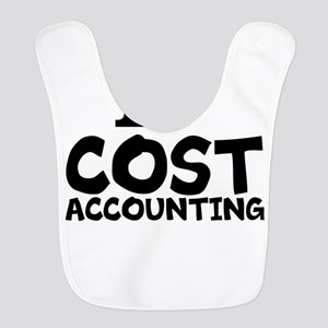 I Love Cost Accounting Polyester Baby Bib