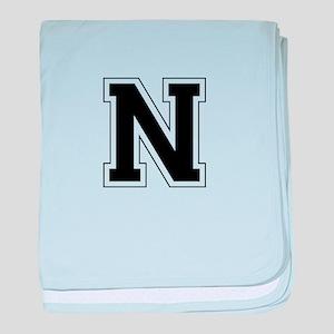 Collegiate Monogram N baby blanket
