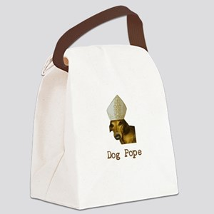 Dog Pope Red Dachsund with pontiff hat Canvas Lunc