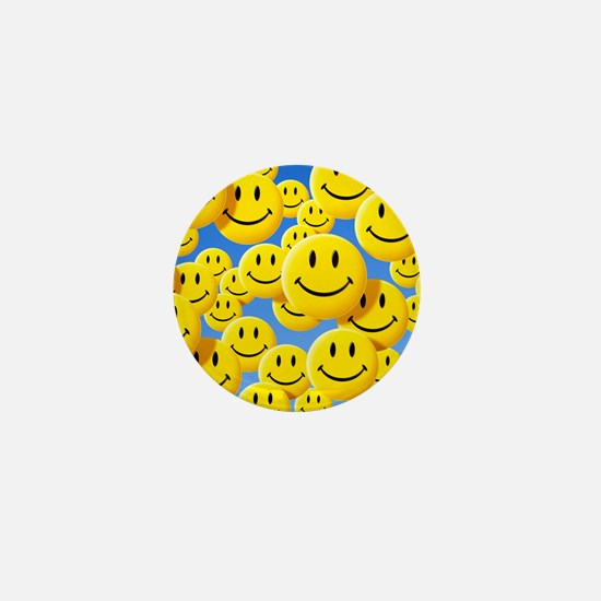 Smiley face symbols - Mini Button