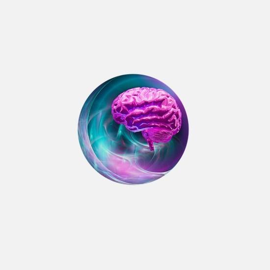 Brain research, conceptual artwork - Mini Button