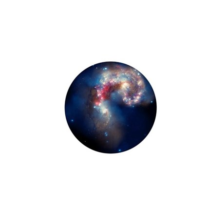 Antennae galaxies, composite image - Mini Button