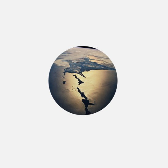 Habomai Rocks and Japan from space - Mini Button