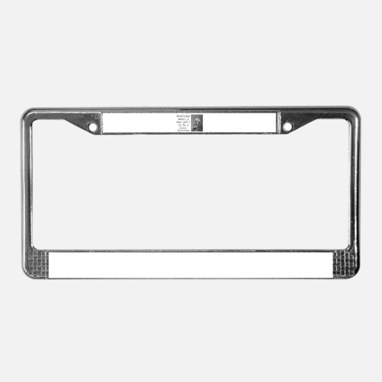 Knowledge Makes A Man License Plate Frame