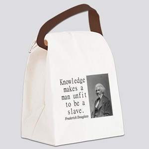 Knowledge Makes A Man Canvas Lunch Bag