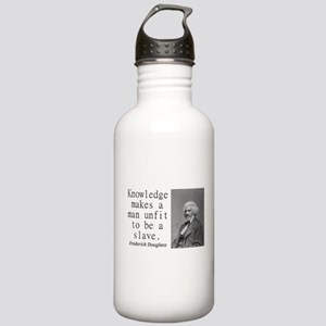 Knowledge Makes A Man Water Bottle