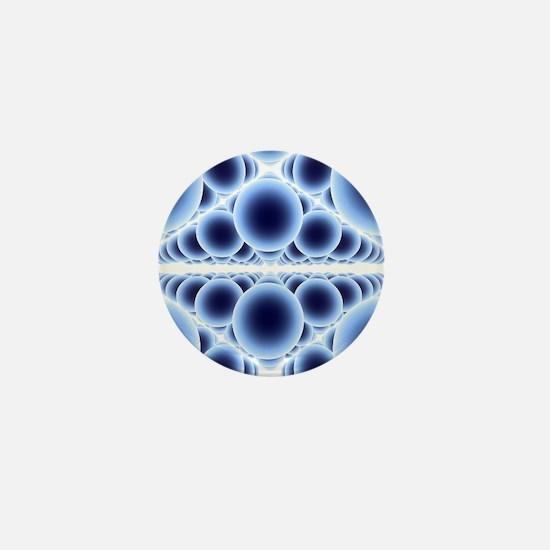 Nanospheres, computer artwork - Mini Button