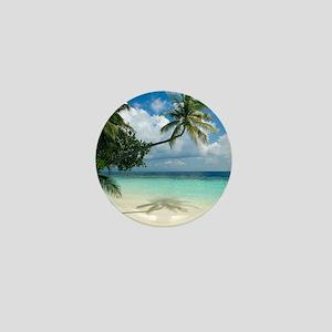 Tropical beach - Mini Button