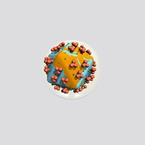 Worldwide AIDS epidemic, artwork - Mini Button