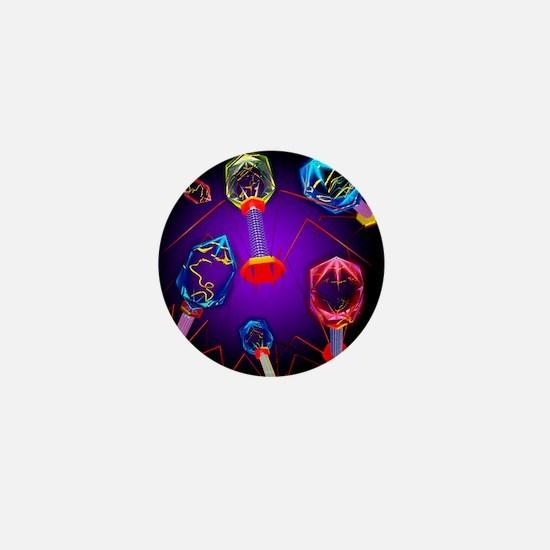 Bacteriophages - Mini Button