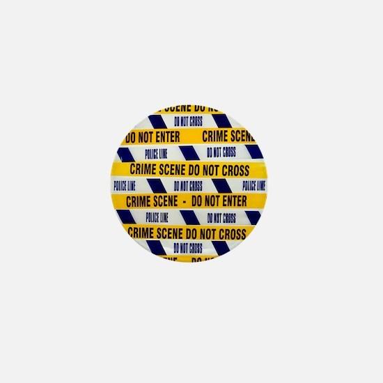 Crime scene tape - Mini Button