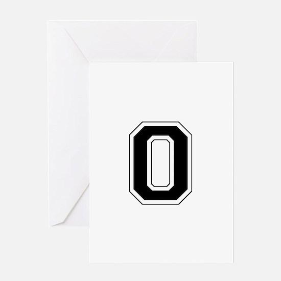 Collegiate Monogram O Greeting Card