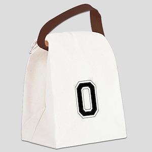 Collegiate Monogram O Canvas Lunch Bag