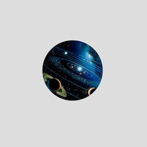 Artwork of the solar system - Mini Button