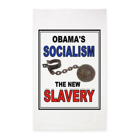 OBAMA SLAVERY 3'x5' Area Rug