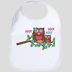 Hoot Owls Bib