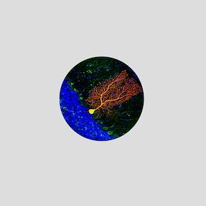 Purkinje nerve cell - Mini Button
