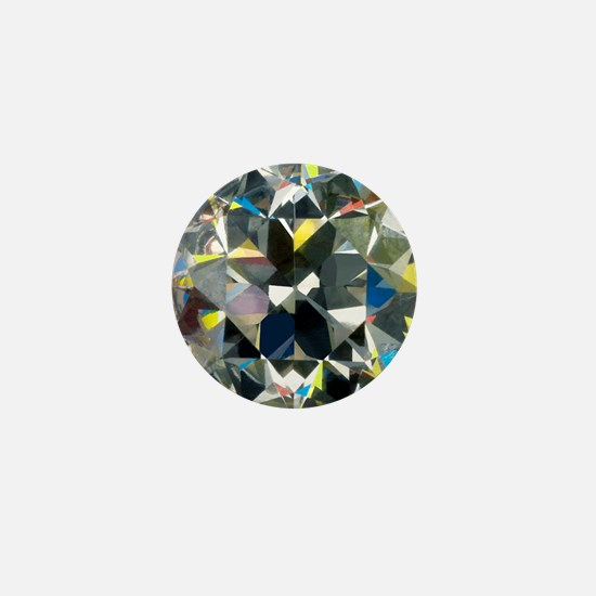 Cut and polished diamond - Mini Button