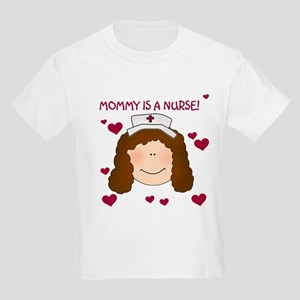 Mommy Nurse Brunette Kids T-Shirt