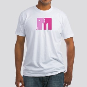 Pink Mammoth Fitted Men's T-Shirt