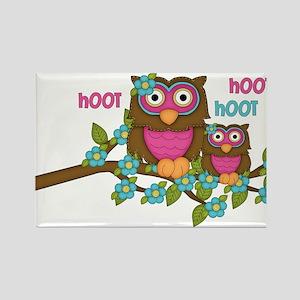 Hoot Owls Rectangle Magnet
