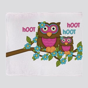 Hoot Owls Throw Blanket
