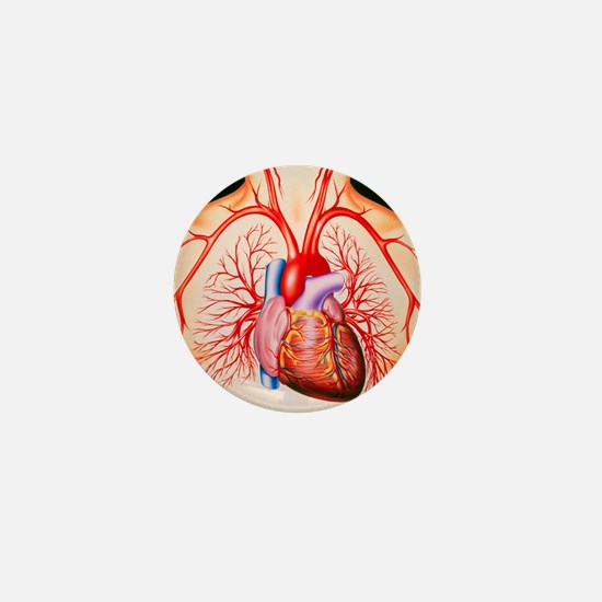 Human heart, artwork - Mini Button