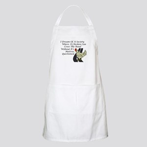 Chicken Crossing The Road Apron