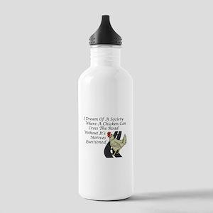 Chicken Crossing The Road Water Bottle