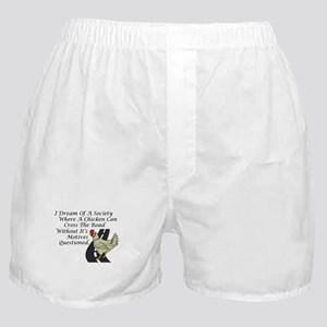 Chicken Crossing The Road Boxer Shorts
