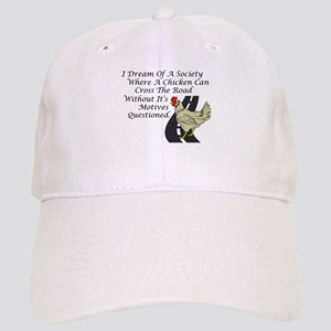 Chicken Crossing The Road Baseball Cap