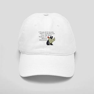 5ff4fa23253 Chicken Crossing The Road Baseball Cap
