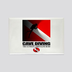 Cave Diving Rectangle Magnet