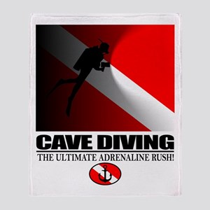 Cave Diving Throw Blanket