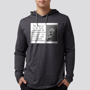 The Desire To Be Free Mens Hooded Shirt