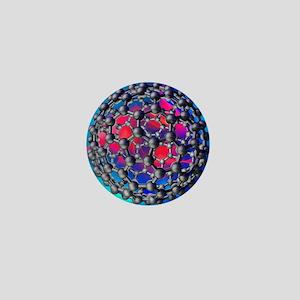 Buckyball molecule, artwork - Mini Button (10 pk)