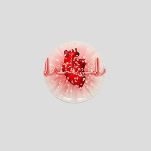 Heart and ECG - Mini Button (10 pk)