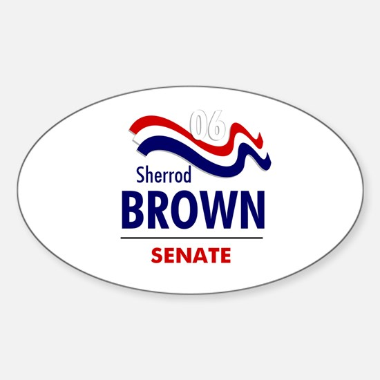 Brown 06 Oval Decal